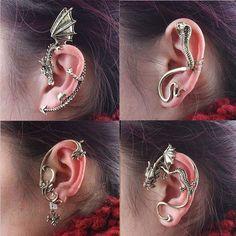 Hot Fashion Gothic Punk Rock Temtation Dragon Snake Ear Cuff Wrap Clip Earrings #Unbranded #Cuff