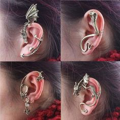 Hot Fashion Gothic Punk Rock Temtation Dragon Snake Ear Cuff Wrap Clip Earrings #Unbranded #Cuff