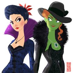 Once Upon a time there was an evil queen (Regina) and her step sister was the wicked witch of the west (Zelena).