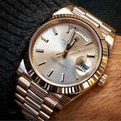 Rolex Day-Date gold patterned