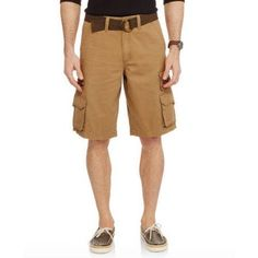 Faded Glory Big Men's Stacked Cargo Short, Brown