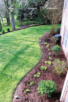 I like this idea around the front of the yard with flower bushes