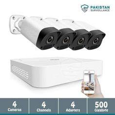 Cctv Security Systems, Digital Video Recorder, 4 Channel, Security Camera, Camera Lens, Phone, Pakistan, Web Design, Suit