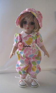 """https://flic.kr/p/qA7wDs   FS Easter Chick Romper & hat & Chick for 10"""" Tonner Patsy Ann Estelle Half Pint Doll"""