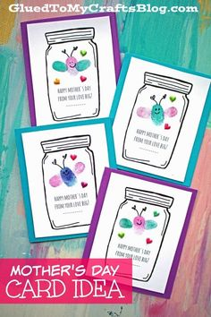"Mother's Day Love Bug Cards - Kid Craft - Free Printable Included - ""Happy Mother's Day From Your Love Bug"" idea is also great for the classroom too! day crafts for kids preschool Mother's Day Love Bug Cards - Kid Craft Daycare Crafts, Classroom Crafts, Baby Crafts, Toddler Crafts, Preschool Crafts, Mothers Day Crafts For Kids, Fathers Day Crafts, Happy Mothers Day, Mother Day Gifts"