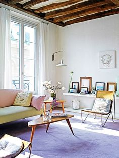 Le Fashion Blog A Fashionable Home Vanessa Bruno Light Bright Paris Apartment Purple Rug Mid Century Furniture Art Via Interior Magasinet photo Le-Fashion-Blog-A-Fashionable-Home-Vanessa-Bruno-Light-Bright-Paris-Apartment-Purple-Rug-Mid-Century-Furniture-Art-Via-Interior-Magasine.jpg