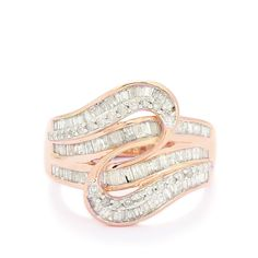 A charming Ring from the Tomas Rae collection, made of 10K Rose Gold featuring 1ct of dazzling Diamonds from Africa.