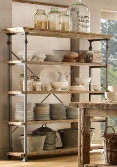 kitchen shelving from restoration hardware