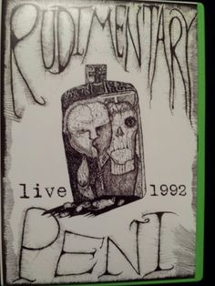 RARE Rudimentary Peni DVD 12/20/92 LIVE at The Venue.  Anarcho-punk Nick Blinko Outer Himalayan Crass Records Death Church Cacophony