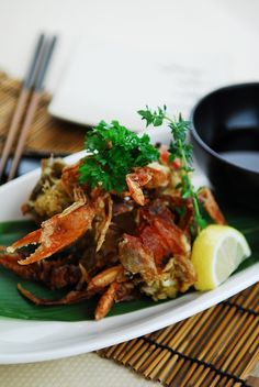 Fried Soft Shell Crab. Always so yummy with some beer! :P