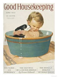 Good Housekeeping, June, 1932 Art Print at Art.com. Sometimes you need to wash more than clothes!