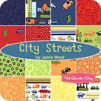 City Streets Fat Quarter Bundle Jamie Wood for Clothworks Fabrics