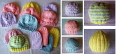 If you would like to do your bit for charity, these knitted preemie hats is a great way to start. 5 great knitting patterns suitable for beginners . Magic Loop Knitting, Knitting Help, Knitting For Charity, Baby Hat Knitting Patterns Free, Baby Hats Knitting, Knitted Hats, Double Pointed Knitting Needles, Tri, Baby Knits