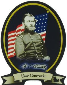 Union Army General Ulysses S. Grant, In 1854 he left the army to rejoin his family and became a farmer. He returned to duty in 1861, and commanded famous Union victories at Fort Donelson, Shiloh, Vicksburg, and Chattanooga. As commander of all Union Armies, he accepted the surrender of Robert E Lee's Confederate forces at Appomattox Court House on April 9, 1865. Grant later served two terms as US President (1869-1877)