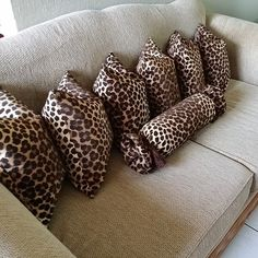 Leopard pillows<3