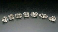 Love these cuts.  Brilliant,  Asher, Emerald,  Princess, Oval, Marquette,  Pear. ♡