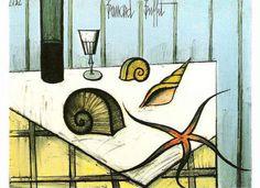 Bernard Buffet - Still life with Shells, 1982