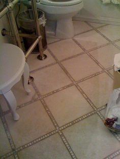 love this floor big carrarra tiles with mini squares in between bathroom floor
