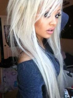 Platinum blonde volume new hair color long hairstyle platinum highlights with ash blonde pretty new winter hair color hair style hair Hair Addiction, Platinum Blonde Hair, Platinum Highlights, Ash Blonde, Blonde Color, Haircuts For Long Hair, Funky Hairstyles, Barbie, Girly