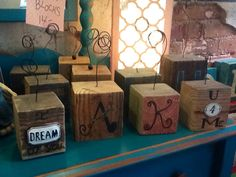 Photo block, made from recycled lumber.