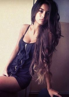 She's so beautiful and her long hair makes her even sexier