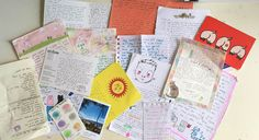 Letters, stickers, and art, oh my! http://www.rookiemag.com/2016/06/diy-pen-pal-package/