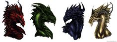 Colorful Dragons by Isvoc on DeviantArt