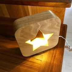 Items similar to Lamp Led night light with switch painted wood star pattern on Etsy Farmhouse Pendant Lighting, Star Lamp, Bois Diy, Wood Stars, Wood Joinery, Wood Lamps, Led Lampe, House Doctor, Design Furniture
