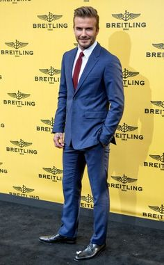 David Beckham at the opening of Spain's Breitling Boutique 2015