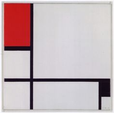 Piet Mondrian, Composition No. I with Red and Black, 1929