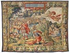 Designer: Designed by Pieter Coecke van Aelst (Netherlandish, Aelst 1502–1550 Brussels), Maker: Woven under the direction of Jan Dermoyen (Flemish, active 1539–1544). The Story of Joshua: God's Commandment To Joshua. tapestry, Wool, silk, gold and silver-metal-wrapped threads, designed ca. 1537, woven ca. 1544