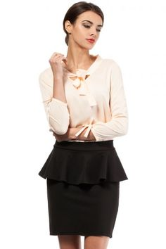 Black mini skirt with a decorative zip