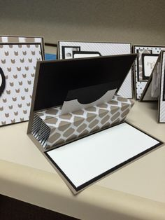 inside view of pop-up gift card holder ...