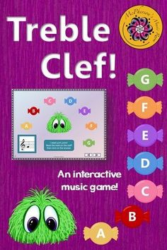 This interactive music game working on reading the notes on the Treble Clef staff will have your music students giggling and begging to play it again! Perfect for the elementary music classroom.