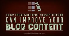 Do you need ideas for blog topics? Do you know what content performs best for your competitors? When you know what content works for your competitors, you can use those topics to brainstorm ideas for your own blog articles. In this article I'll share five ways to research your competitors' content and tools to help… #blogging #content