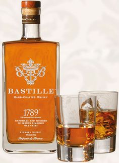Bastille is a hand-crafted French Whisky distilled by Master Distiller Jean-Marc Daucourt. Made of primarily barley and small amounts of wheat, this whiskey Good Whiskey, Scotch Whiskey, Bourbon Whiskey, Hard Drinks, Fun Drinks, Alcoholic Drinks, Beverages, Cocktails, Tequila
