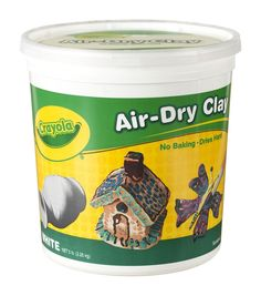 Crayola Air-Dry Durable Non-Toxic Self-Hardening Modeling Clay 5 Lb Bucket White Crayola Air Dry Clay, Air Dry Modeling Clay, Baking Clay, Modeling Techniques, White Clay, Sculpture Clay, Clay Crafts, Vbs Crafts, Diy Clay