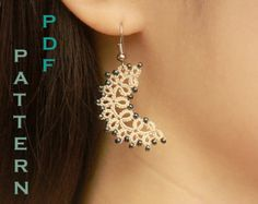 Tatting lace necklace / earrings pdf pattern (The Arabian Nights)