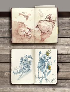 Via behance sketchbook drawings, moleskine sketchbook, illustration sketche Sketchbook Drawings, Artist Sketchbook, Drawing Sketches, Art Drawings, Drawing Faces, Moleskine Sketchbook, Artist Journal, Sketching, Sketchbook Inspiration