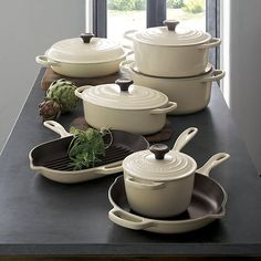 Free Shipping. Shop for a dutch oven at Crate and Barrel. Browse non stick, enamel and cast iron dutch ovens by Le Creuset, Lodge and Calphalon brands.