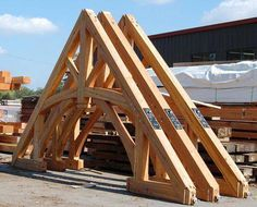 Timber frame Gallery of Trusses by New Energy Works. Timber Frame Homes, Timber House, Timber Frames, Timber Roof, Cabin Homes, Log Homes, Timber Architecture, Timber Structure, Roof Trusses