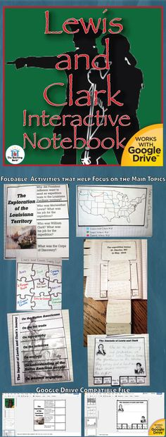 Lewis and Clark Interactive Notebook Activities, which works for both print and Google Drive™, is a great stand alone mini-Interactive Notebook activity or an add-on section for a Social Studies Interactive Notebook.