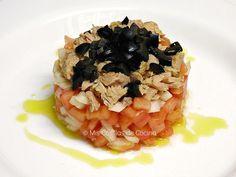 Tartar de tomate con atún