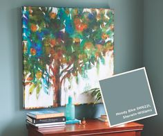 From our Summer 2013 Catalog: Sherwin Williams #SW6221, Moody Blue.