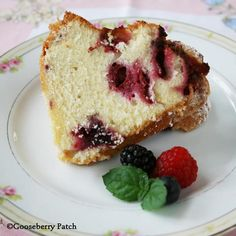 Bursting with Berries Bundt Cake from Get-Togethers with Gooseberry Patch Cookbook
