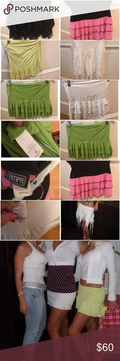 Skirt bundle !!!!! 6 skirts Skirt bundle!!!  Sizes small - medium. Skirts worn either once or just few times. Great condition. Some were worn as beach cover up some worn out to clubs or day time events. Skirts Mini