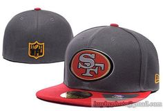 272b8f606ab Cheap Wholesale NFL San Francisco 49ers 59Fifty Hats Fitted Hats Caps Gray  for slae at US 8.90  snapbackhats  snapbacks  hiphop  popular  hiphocap ...