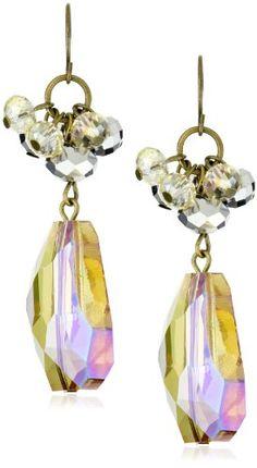 """Leslie Danzis """"Irridescent"""" 2.5"""" Topaz Chunky Stone Earrings"""