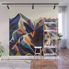 Give Your Home a Bold Accent Wall with New Peel + Stick Wall Murals. accent walls, Give Your Home a Bold Accent Wall with New Peel + Stick Wall Murals - Design Milk Bedroom Murals, Diy Bedroom, Metal Tree, Art Mural, Paint Designs, Diy Wall, Wall Murials, House Wall, Home Accents