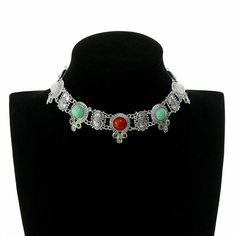 Find Me Fashion Collar choker necklace Vintage Brand statement necklaces crystal gypsy ethnic maxi Necklace Women Jewelry Vintage Branding, Indiana, Chokers, Women Jewelry, Collar Choker, Pendants, Pendant Necklace, Statement Necklaces, Crystals